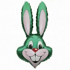 "GREEN RABBIT EASTER BUNNY HEAD SUPERSHAPE 39"" FOIL BALLOON"