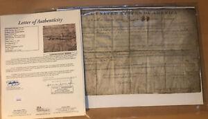 Jsa Letter John Quincy Adams signed land grant President United States Document
