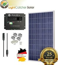 100 Watt 100W Solar Panel Kit with Solar Charge Controller 12V RV Boat Off Grid