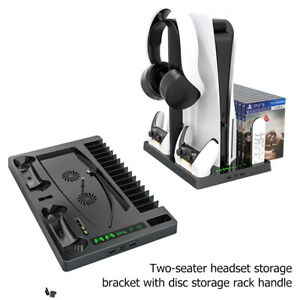 FOR PS5 Console Stand Accessories with Cooling Fan Controller Handle Bracket