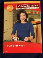 Rachel Ray 30 Minute Meals DVD Food Network 3 Disc Set Drink Pasta Menu K*