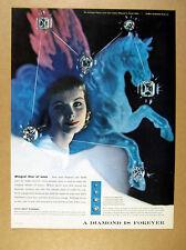 1956 Herbert Matter pegasus constellation photo De Beers Diamonds print Ad