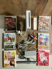 NINTENDO Wii SYSTEM Console Bundle lot 6 GAMES 1 sensor 1 remote 1 nunchuck cord