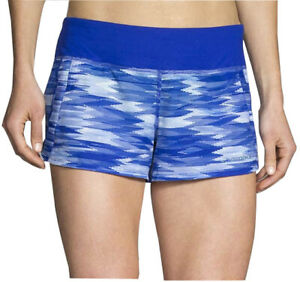 Brooks Chaser 3 Inch Womens Running Shorts - Blue