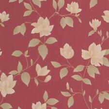 Graham Brown Amy Red Gold Floral Wallpaper Metallic Textured Paste Wall Vinyl