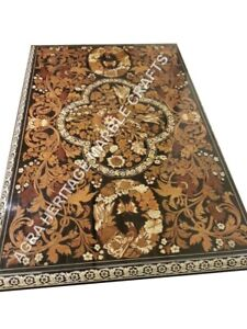 6'x4' Marble Dining Hallway Table Top Marquetry Inlay Restaurant Decor H4888