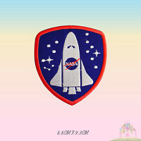 Space Ship NASA USA Logo Special Embroidered Iron On Patch Sew On Badge