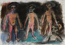 """Michael Steiner, """"4 Brothers As Disciples"""",  Original Pastel,18""""h x 24""""w image"""