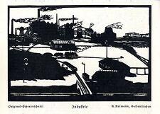 A. Reimann, Gelsenkirchen Industrie Histor. Druck- Scherenschnitt von 1924