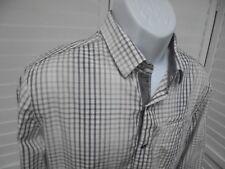 7 Diamonds Men's Plaid Pearl Snap Button Front Shirt Long Sleeve Flip Cuff SM
