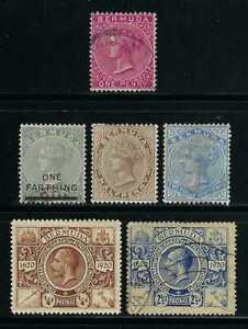 Bermuda 1865-1921 Sc#1//75  Queen Victoria/George V  Used $23.50 TWO SCANS