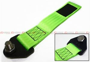 NEO GREEN RACING HEAVY DUTY TOW TOWING STRAP RATED AT 10,000 LB FOR SUBARU