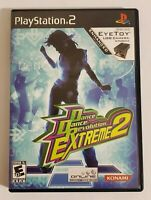Dance Dance Revolution Extreme 2 (Sony PlayStation 2, PS2) with Case & Manual