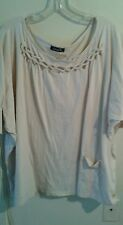 COTTY ON  OATMEAL BEIGE TUNIC STYLE TOP  SIZE MEDIUM 3/4 SLEEVES RUNS VERY BIG