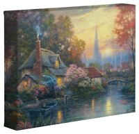 Thomas Kinkade Nanette's Cottage 8 x 10 Gallery Wrapped Canvas
