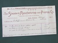 Butte Montana General Electric Co. & Printing Co. orig 1893 Billhead Receipts