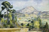 Montagne Saint-victoire 3 by Paul Cezanne Giclee Repro on Canvas