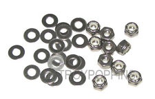 SS 10-#10-24 HEX NYLOC LOCK NUTS & 20-#10 FLAT WASHERS STAINLESS STEEL 18-8 PART