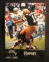 New Orleans Saints TOM DEMPSEY auto autographed signed 1997 UPPER DECK card AL98