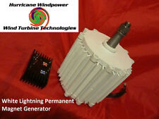 12V White Lightning Permanent Magnet Wind Generator Hurricane 750  Super Amps