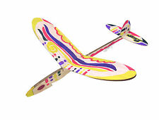 Lanyu Hand Launch Balsa Wood Glider Plane DIY Build&Paint Model Kit, US 7009