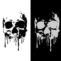 1x Bloody Skull Car Sticker Bleeding Car Bumper Laptop Window PET Decal Decor