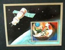 Umm Al Qiwain-1972-Soviet Space Station Minisheet-Used Imperf