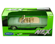 Welly 1:24 Mijo 1963 Green Chevy Impala SS Convertible Diecast Model 22434GRN