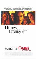 THINGS YOU CAN TELL JUST BY LOOKING AT HER Movie POSTER 24x36 Cameron Diaz Glenn