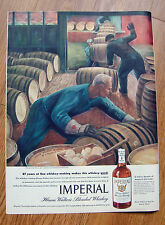 1945 Imperial Hiram Walker Whiskey Ad On its Way to Age Painted by Boggs