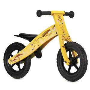 Nicko NIC853 Giraffe Children's Kid's Yellow Wooden Balance Bike 2 - 5 Years