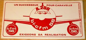 Vintage 1970s CFM56 Engines for Airbus A200 (Became A300) Sticker