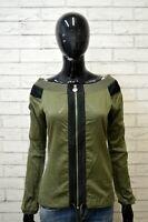 DIESEL Maglia con Cerniera Donna Camicia Blusa Taglia S Maglietta Shirt Women's