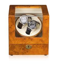 New Automatic Rotation 2 Watch Self-Winding Case Wood Display Box Japan Motor