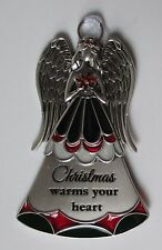 hhD Christmas warms heart Stained glass GUARDIAN Nativity ANGEL ORNAMENT Ganz