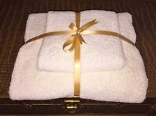 Towel Set, ( 1 x Bath Sheet + 1 Hand Towel ) , White, 100% cotton.