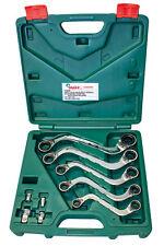 HANSTOOLS Doppel-Ring-Ratschenschlüssel S-Form 72 Zähne/5° umschaltbar + Adapter