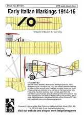 Blue Rider Decals 1/72 EARLY ITALIAN AIRCRAFT MARKINGS 1914-1915