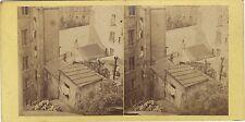 Photo amateur inhabituelle Stereo plongeante Stereo Vintage Albumine ca 1870