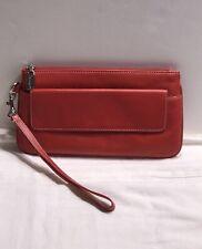 Tignanello Red Leather Wristlet Wallet Organizer