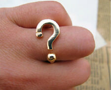 R185 Betsey Johnson Exquisite Gold Question Mark Symbol Ring US