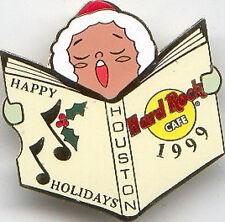 Hard Rock Cafe Houston 1999 Christmas Pin - Caroler Series #15 of 15