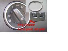 Alu Ring für Lichtschalter Aluring für Audi A4 - B7 Chrom