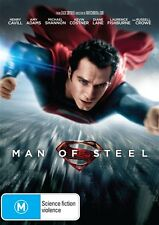 Man Of Steel DVD Henry Cavill Russell Crowe Amy Adams Kevin Costner - Superman