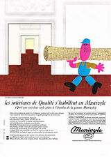 PUBLICITE ADVERTISING  1964   MUNIVYLE   revetement mural & sol tapis plastifié