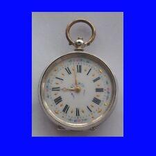 Mint Silver & PolyChrome Enamel Swiss LEpine KW Fob Pendant Pocket Watch 1860