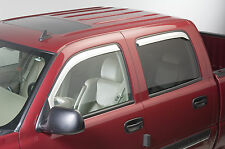 Chrome Trim Window Visors Fits 2002-2006 Chevrolet Avalanche (Set of 4)
