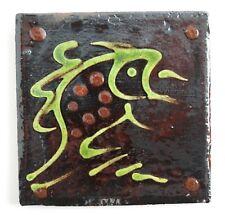 Studio pottery: Clive Bowen slipware glazed fish tile
