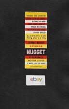 NUGGET CASINO & MOTOR LODGE TRADER DICKS SPARKS RENO,NEVADA MATCHBOOK COVER