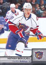13/14 UPPER DECK AHL #30 NATHAN BEAULIEU BULLDOGS *4774